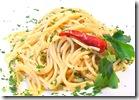 spagetti in olive oil