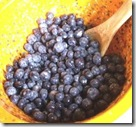 Blueberries in yellow bowl