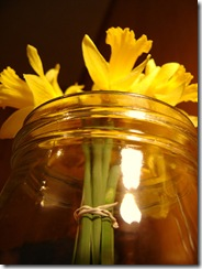 mason jar and flower