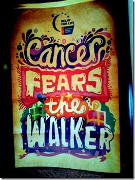 Cancer Fears the Walker