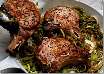 Pork Chops with leeks in Dijon Mustard Sauce 1