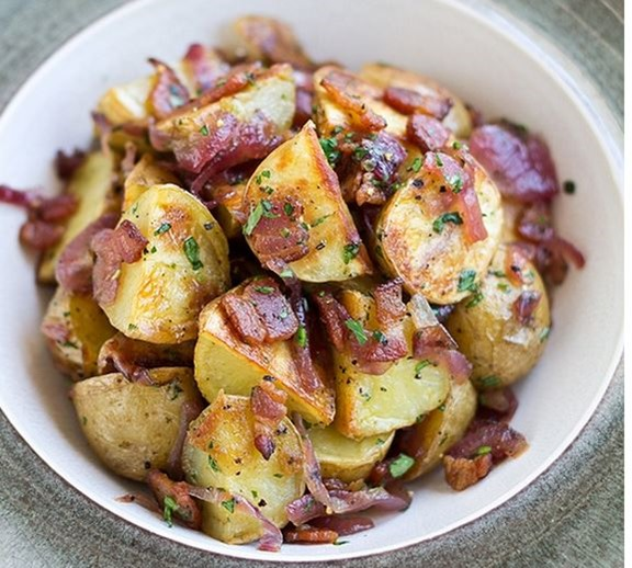 Red Potato Salad with Bacon and Roasted Red Onions Beyond Paleo