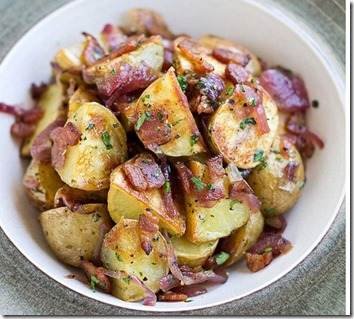 Potato Salad with Roasted Red Onions and Bacon