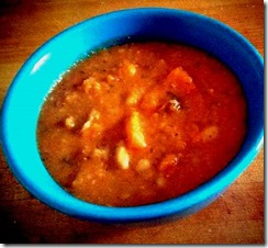 Butternut Squash and Cannellini Bean Soup with Bacon 2