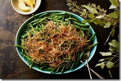 Lemony Green Beans with Frizzled Leeks