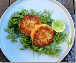 Salmon Cakes with Smoked Salmon