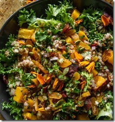 Escarole Bacon and Buternut Squash Salad