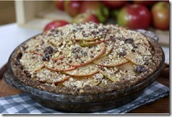 Raw Apple Pie with Fig Date Crust