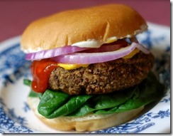 Veggie Burger with Gluten Free Bun